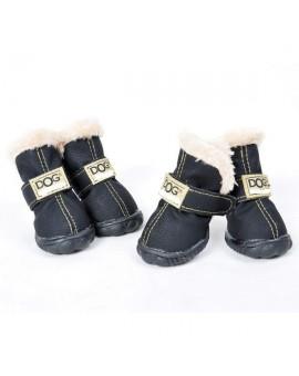 Chaussures pour chien couleur noire