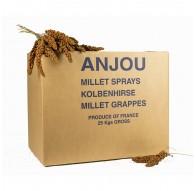 Carton de millet en grappe rouge 25 Kg