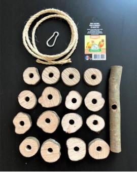 Jouet en bois pour perroquet et grandes perruches Octave Bauchant en kit
