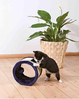 Rouleau pour chat griffoir avec boule en peluche suspendue