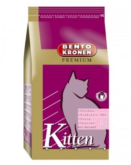 Croquettes pour chatons au poulet haut qualité Bento Kronen Kitten