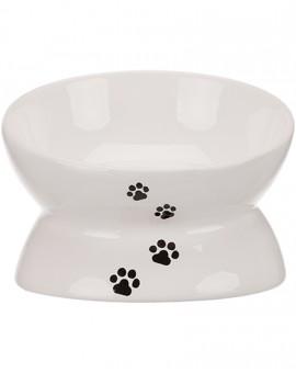 Bol surélevée pour chat en céramique