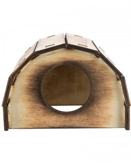 Maisonnette en bois flammé pour hamster