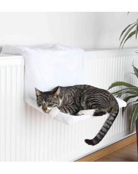 Hamac de radiateur blanc pour chat