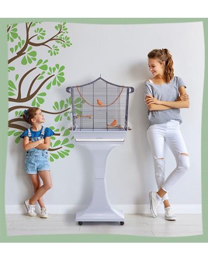 Cage pour oiseaux sur roulettes