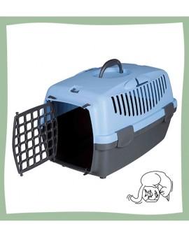 Caisse de transport bleue pour chat Trixie