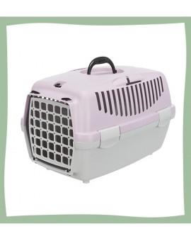 Caisse de transport rose pour chat Trixie