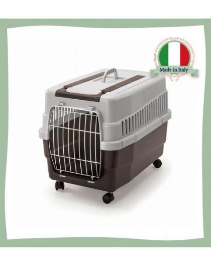 Caisse de transport pour chat à roulettes