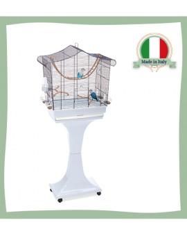 Cage pour oiseaux sur roulettes Sofia