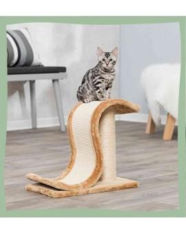 Griffoir pour chat en forme de vague design en sisal et peluche Trixie Inca