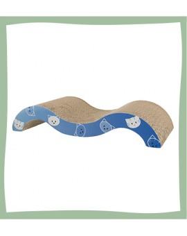 Griffoir vague en carton pour chat