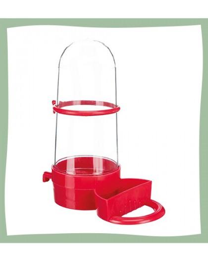 Distributeur d'eau pour oiseaux avec perchoir
