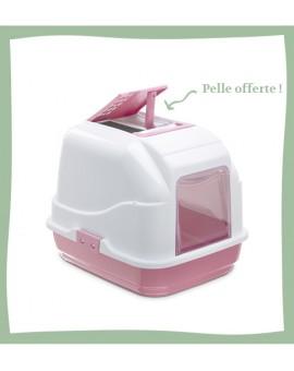 Maison de toilette pour chat rose