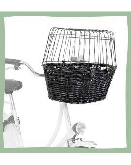 Panier de vélo pour chien en osier
